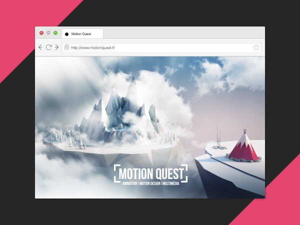 Web Design pour Motion Quest